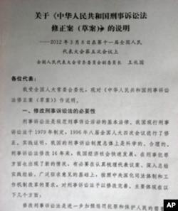 王兆國關於刑法修正案的說明稿