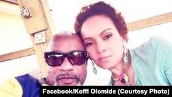 Koffi Olomide akiwa na mkewe Aliya wakati alipokuwa kwenye gereza la Makala mjini Kinshasa.