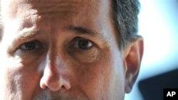 23일 루지애나 주, 웨스트 먼로 시에서 선거 유세하는 릭 샌토롬.