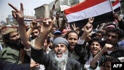 Người biểu tình chống chính phủ xuống đường đòi chấm dứt chế độ cai trị của Tổng Thống Ali Abdullah Saleh kéo dài 32 năm nay