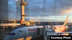 Ndege ya shirika la Kenya Airways.