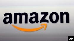 美国网络销售巨头亚马逊公司的标志。