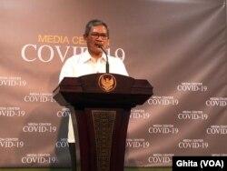 Jubir Penanganan Virus Korona Dr Achmad Yurianto. (Foto: VOA/Ghita)