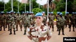 Des membres de la Minusma à Bamako, le 1er juillet 2013.(REUTERS/Malin Palm)