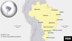 2014 World Cup, Host stadiums in Brazil