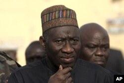 Goodluck Jonathan, durant une visite à Kano, le 22 janvier 2012