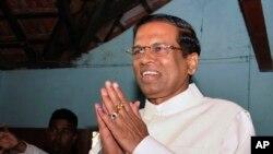 FILE - Sri Lankan president Maithripala Sirisena.