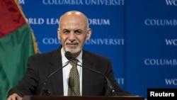 Tổng thống Afghanistan Ashraf Ghani tham gia một buổi hội thảo tại Đại học Columbia ở New York ngày 26 tháng 3 năm 2015.
