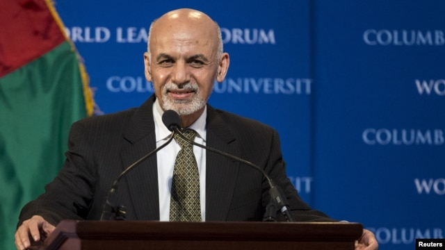 FILE - Public dissatisfaction with President Ashraf Ghani, pictured March 26, 2015, dates to the disputed 2014 Afghan presidential election, says a former deputy U.S. ambassador to Kabul following a poll showing deep dissatisfaction with the leadership.