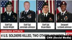 Les quatre soldats américains retrouvés morts au Niger, 11 octobre 2017.