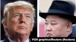 Donald Tramp i Kim Džong UN, ilustrativna fotografija (Foto: Reuters/VOA graphic)