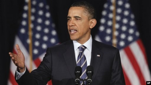 President Barack Obama outlines his plan for cutting federal spending during an address at George Washington University in Washington, April 13, 2011
