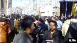 یک عکس خبرگزاری ایلنا از تجمع صنفی گروهی از معلمان ایرانی - آرشیو