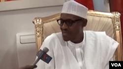 FILE - President Muhammadu Buhari in Abuja, Nigeria.