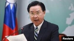 Ngoại Trưởng Đài Loan Joseph Wu loan báo cắt đứt quan hệ ngoại giao với đảo quốc Kiribati. Ảnh chụp tại Đài Bắc ngày 20/9/2019. REUTERS/I-Hwa Cheng