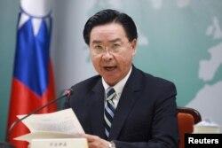 우자오셰 타이완 외교부장이 20일 담화를 통해 태평양 연안 국가인 키리바시가 단교를 통보해왔다고 발표했다.