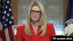 Juru bicara Departemen Luar Negeri Amerika Marie Harf (foto: dok).