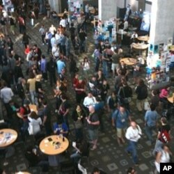 Attendees at the 2010 SXSW conference hall