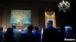 Escenario de la firma de la orden ejecutiva sobre el calentamiento global en la Agencia para la Protección del Medioambiente en Washington.