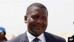 Nigerain billionaire Aliko Dangote