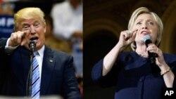 Ứng cử viên tổng thống Đảng Cộng hòa Donald Trump (trái) và ứng cử viên tổng thống Đảng Dân chủ Hillary Clinton.