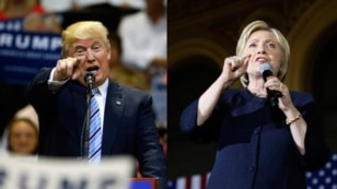 FILE - Now, it's down to just two: Republican presidential nominee Donald Trump and Democratic presidential nominee Hillary Clinton.
