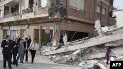 Cảnh đổ nát sau trận động đất ở thành phố Lorca, Tây Ban Nha