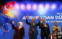 Recep Tayyip Erdogan sa suprugom Emine i Bakir Izetbegović sa suprugom Sebijom, Zetra, Sarajevo, 20. maj 2018.