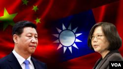 中国国家主席习近平和台湾总统当选人蔡英文