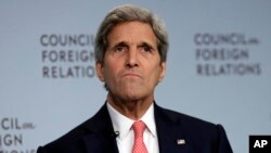 U.S. Secretary of State John Kerry speaks about the Iran nuclear deal at the Council on Foreign Relations, in New York, July 24, 2015.