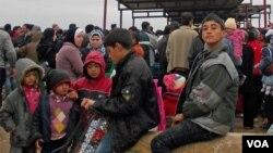 Syrian refugee in Dumiz Camp, Duhok Province, Kurdistan Region of Iraq, Wednesday, January 23, 2013