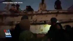 فیلمی از کمکرسانی ناوشکن آمریکایی به شناور ایرانی در دریا