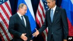 Le président américain Barack Obama et son homologue russe Vladimir Poutine, à New York, le 28 septembre 2015.