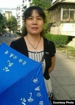 刘萍参与新公民运动(网络图片)