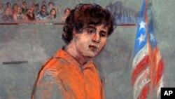 Tersangka Dzhokhar Tsarnaev menyatakan tidak bersalah atas seluruh dakwaan dalam sidang di pengadilan Boston, Rabu (10/7).