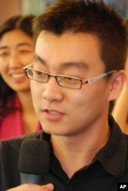在香港任職記者的大陸年青人梁棟