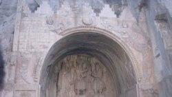 طاق بستان کرمانشاه نیز از جمله سامانه های باستانی آسیب پذیر در برابر الاینده های شیمیایی ست