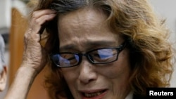 Başı kesilen Japon gazetecinin annesi ölüm haberi üzerine konuşurken