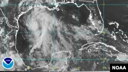 GOES-East satellite image, Gulf of Mexico, June 15, 2015.