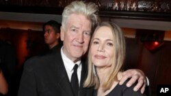 "Creator and Executive Producer David Lynch and Peggy Lipton pictured at Showtime's ""Twin Peaks"" premiere afterparty, May 19, 2017 in Los Angeles."