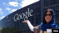 فخریه ابراهیمی درسفرش به امریکا از شرکت گوگل در کلفورنیا دیدن نمود