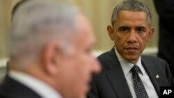 2014年10月1日美国总统奥巴马在白宫会见以色列总理内塔尼亚胡