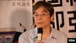 港教育大学教育政策与领导学系客席副教授梁恩荣 (美国之音汤惠芸拍摄)