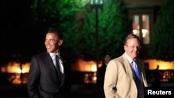 Барак Обама и Роберт Гиббс