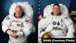 Astronauts Scott Kelly, left, and Kjell Lindgren.