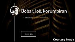 """Online igra """"Dobar, loš, korumpiran"""" (Foto: CINS)"""