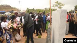 Inauguração do memorial de Afonso Dhlakama, Manica, Moçambique