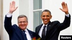 Бронислав Коморовский и Барак Обама