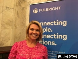 Former State Department spokesperson Heather Nauert, seen in this undated photo, is one of three new members appointed by President Donald Trump to the Fulbright Foreign Scholarship Board.