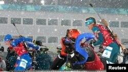 Соревнования по биатлону на Олимпиаде в Пхёнчхане, 22 февраля 2018 года